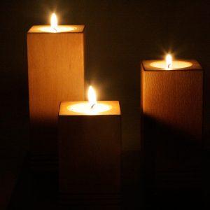 Porte bougies vertical