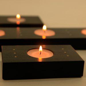 Porte bougies horizontal