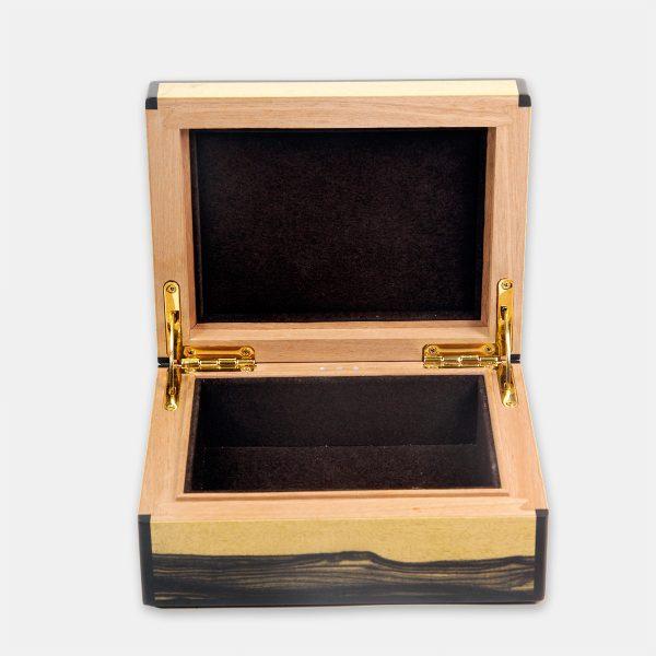 coffret bijoux ébène blanc modèle 1